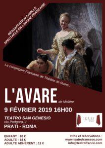 """Al Teatro San Genesio va in scena """"L'Avaro"""""""