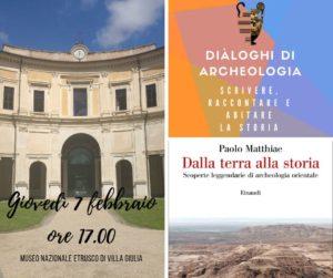 """""""Dialoghi di Archeologia"""" al Museo Nazionale Etrusco di Villa Giulia"""