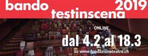 """Disponibile on line il bando """"testinscena 2019"""" per i giovani talenti"""