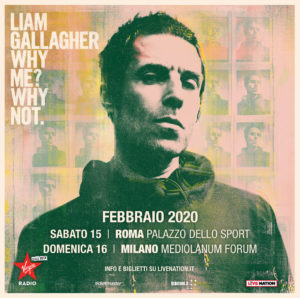 Due tappe italiane per il tour 2020 di Liam Gallagher