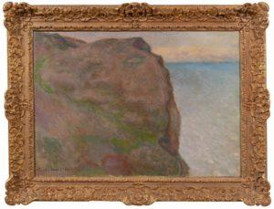 """""""La Falaise du Petit Ailly à Varegenville"""" di Monet in mostra a Parma"""