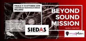 "SIEDAS e MusPlan lanciano il contest musicale ""Beyond Sound Mission"""