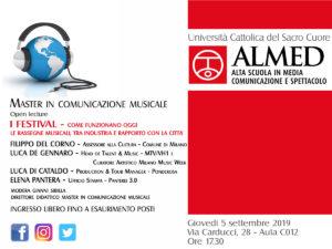Aperte le iscrizioni per il Master in Comunicazione Musicale all'Università Cattolica