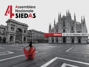 Al via il countdown per l'Assemblea Nazionale SIEDAS 2019