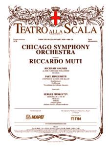 La Chicago Symphony Orchestra approda a Milano diretta dal Maestro Riccardo Muti