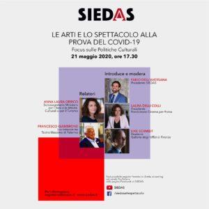 """""""Le arti e lo spettacolo alla prova del COVID-19"""", un incontro dedicato alle politiche culturali"""