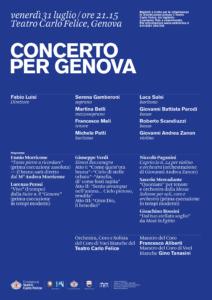 """Il Teatro Carlo Felice festeggia l'inaugurazione del ponte """"Genova San Giorgio"""""""