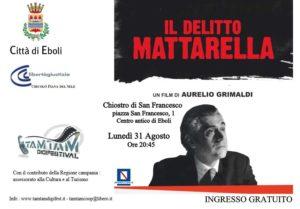"""""""Il delitto Mattarella"""", ad Eboli la proiezione del film di Aurelio Grimaldi"""