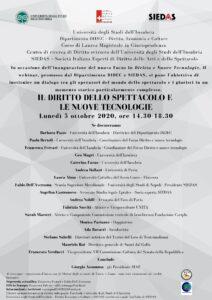 """SIEDAS e l'Università dell'Insubria insieme per """"Il diritto dello spettacolo e le nuove tecnologie"""""""