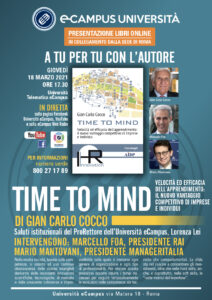 """""""Time to Mind"""", il nuovo libro di Gian Carlo Cocco che insegna ad imparare"""