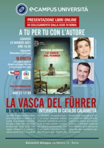 """""""La vasca del Fuhrer"""", Serena Dandini conversa con Cataldo Calabretta"""