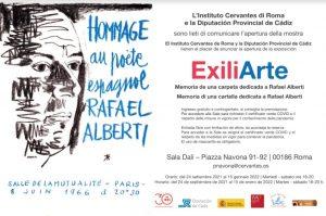 """""""ExiliArte"""", a Roma una mostra omaggio per il poeta andaluso Rafael Alberti"""
