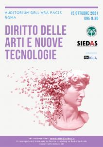 """""""Diritto delle arti e nuove tecnologie"""", a Roma un convegno organizzato da Uninsubria e SIEDAS"""